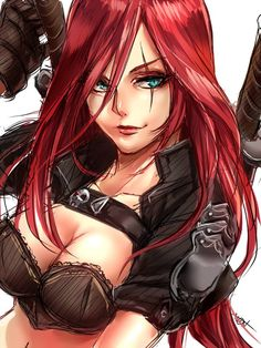 Katarina,League of Legends,Лига Легенд,фэндомы Katarina League Of Legends, Leona League Of Legends, Girls Characters, Fantasy Characters, Female Characters, Elsword, Bd Comics, Anime Comics, Art Anime