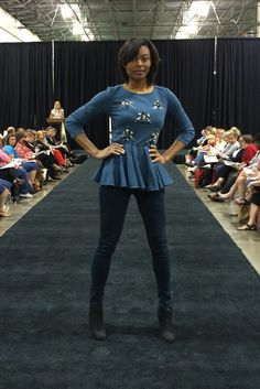 How cute is this? McCall's peplum jersey top M7021. As seen at the 2014 American Sewing Expo.