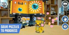 Explore building virtual LEGO models and toying with playful and crazy LEGO BrickHeadz characters, changing their looks and behaviors.