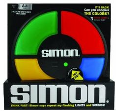 Simon strengthens short term / working memory. Each color lights up and has its own unique tone. Also, the game has built in intensity - meaning it will automatically challenge your skill-set as it develops. The game increases in speed, so it's important to focus, listen, look, and touch as the pattern is signaled.