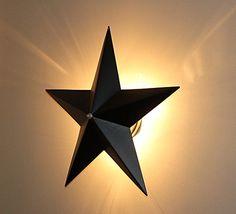 Barn Star Wall Sconce Light Fixture (Black) Starlight Pri...
