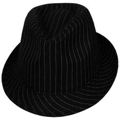 Look smart and sassy! Our Fedora Hat for men or women is a stylish topper for a variety of characters. Pinstripe Fedora Hat is a black fabric fedora with white pinstripes, a subtly creased crown, and a narrow, upturned brim. Fancy Dress Store, Fancy Dress Hats, 1920s Fancy Dress, Flapper Costume, Funny Hats, Fedora Hat, Costume Accessories, Black Fabric, Hats For Men