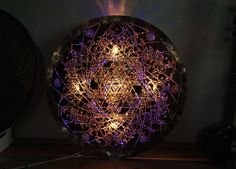 TISRA TIL LIGHTMANDALA unique lightmandala. copper 100 cm.