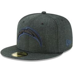 080cd511f3c Men s Los Angeles Chargers New Era Heathered Black Bold 59FIFTY Fitted Hat
