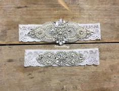 bridal sets & bridesmaid jewelry sets – a complete bridal look Garter Belt Wedding, Bride Garter, Lace Garter, Bridal Bracelet, Bridal Jewelry, Wedding Day Gifts, Wedding Things, Wedding Stuff, Wedding Ideas