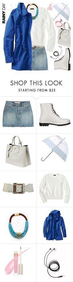 """Rainy Day Style"" by grozdana-v ❤ liked on Polyvore featuring Marc by Marc Jacobs, Circus By Sam Edelman, Prada, Hunter, J.Crew, TravelSmith, Stila, Chopard, rainydaystyle and plus size clothing"