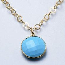 Turquoise & Goldfill Necklace www.jewelya.com