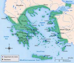 Ancient Greek states Map Maps Satellite