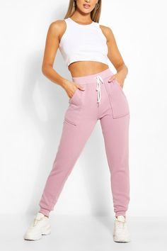 Pocket Detail Joggers | Boohoo UK