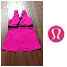 Luulemon pink top Worn probably 3 times. No holes or stains. Doesn't  come with pads.                                  e lululemon athletica Tops