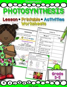 Photosynthesis  Unit plan with worksheets..This is a complete unit on Photosynthesis. It includes lessons (to act as the unit plan), experimental…