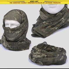 Russian YEGER Woodland Camo Tactical Mesh Scarf Wrap Mask Shemagh Sniper Veil   Collectibles, Militaria, Surplus   eBay!
