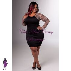 New Plus Size Bodycon Black with Animal Print Mesh Back and Long Sleeves available at www.chicandcurvy.com   Model: Janna Plus Model MUA: Make Me Blush - Makeup By Jillian Bianca Hair: Hair by Ashelee Photography: Smash Photo Studio