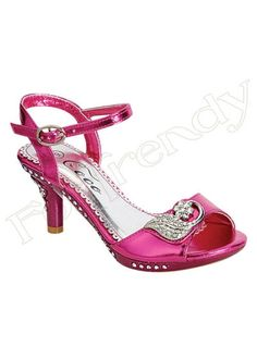 d62bc21c05db Hot Pink Heels with rhinestones. A must for a little princess. Sizes 9-