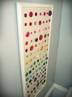 DIY button wall decor