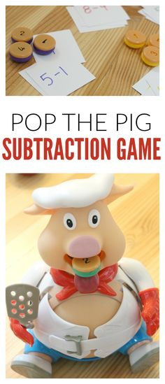 math game subtraction with pop the pig