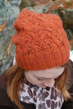 Manhattan, Mixed Drink #1 hat pattern by Amy Christoffers (knitting, beanie, toque, lace)