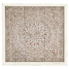 Featuring An Ornate Medallion Motif This Wood Framed Metal Wall Decor Brings Distinctive Style