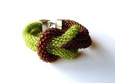 Two Worlds  beaded double brecelet by Vesperto on Etsy, £14.50