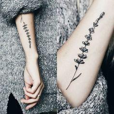 • L A V A N D E R • tattoo ink inkspiration flower botanic nature #po_ly_art #lavandertattoo #tattooforlife