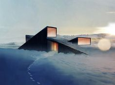 Design for a cabin in a restricted, mountainous area in Norway.