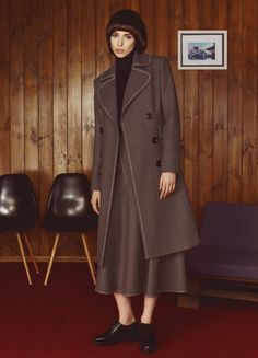 Grey Wool Coat | FLOW THE LABEL | NOT JUST A LABEL