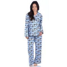 Leisureland Women's Bow Wow Dog Print Cotton Flannel Sleep Pants - 15857230 - Overstock.com Shopping - Top Rated Leisureland Pajamas & Robes