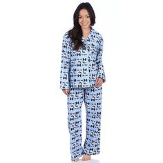 Leisureland Women's Bow Wow Dog Print Cotton Flannel Sleep Pants - 15857230 - Overstock.com Shopping - Top Rated Leisureland Pajamas & Robes