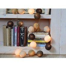 Cotton Ball Lights Traupe 10 kul