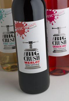 The Big Crush range - Merlot, Pinot Grigio and Grenache Rose.