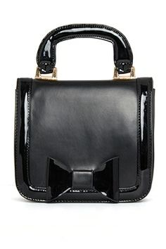 SQUARE HANDLE BAG WITH BOW  $22.00