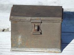 Aspiring Antique Metal Deed Box Boxes/chests Antique Furniture