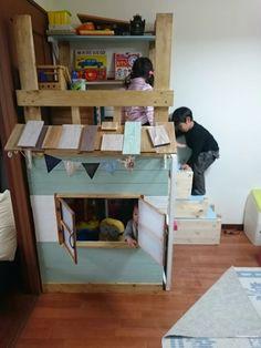 子供部屋に秘密基地を作りました♪