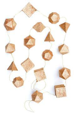 Geometric shaped garland
