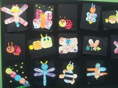 Insects done in the style of Eric Carle!