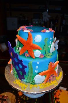 """Sea theme"" Birthday Cake Bittersweet Bake Shoppe Tyngsboro, Massachusetts"