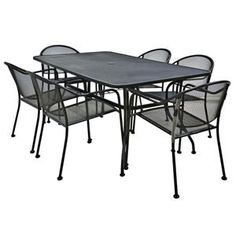 7-Piece Mesh Patio Dining Set | Nebraska Furniture Mart