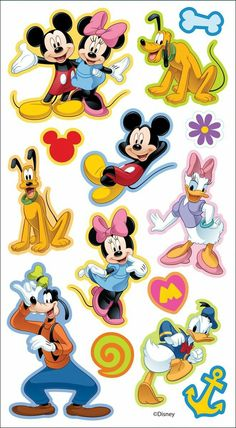 Disney Puffy Stickers Mickey and Friends. Fabulous puffy stickers perfect for cards, scrapbook pages, notebooks, and more! This package contains one inch sheet of puffy stickers featuring Mickey Mouse and Friends: 14 total pieces. Mickey Mouse Stickers, Mickey Mouse And Friends, Mickey Mouse Characters, Bolo Mickey E Minnie, Imprimibles Toy Story, Mini Mouse, Mickey Mouse Birthday, Disney Mickey Mouse Clubhouse, Cute Disney