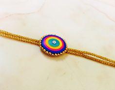 Quilled rakhi Paper Quilling Jewelry, Paper Quilling Designs, Quilling Craft, Paper Jewelry, Quilling Rakhi, Happy Raksha Bandhan Images, Handmade Rakhi Designs, Rakhi Making, Denim Earrings