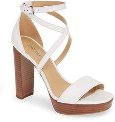 Find and compare MICHAEL Michael Kors Charlize Strappy Platform Sandal (Women) across the world's largest fashion stores! Stylish Sandals, Nordstrom Beauty, Michael Kors Shoes, Looking For Women, Open Toe, Platform, Heels, Queen Headboard, Style