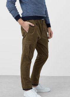 Pantalón cargo algodón