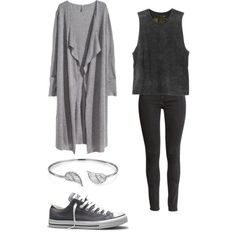 J-Hope - I Need You by clemerina on Polyvore featuring H&M, RVCA, Converse and Bling Jewelry