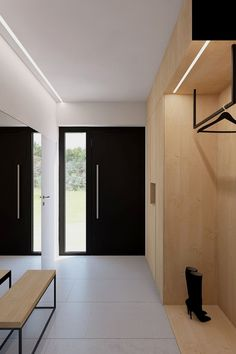IDEAS & INSPIRATIONS Looking to enhance your home or simply create an oasis for your space? My client centered approach can do this for you! Modern Entrance Door, Entry Hallway, House Entrance, Entrance Doors, Vestibule, Interior Architecture, Interior Design, Mudroom, New Homes