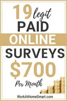 Did you know you can earn some extra money by giving your opinions? Read on to discover awesome sites that offer the most rewarding surveys. Top Paid Surveys, Best Paid Online Surveys, Surveys That Pay Cash, Make Money Online Surveys, Earn Money From Home, Make Money Blogging, Online Jobs, How To Make Money, Survey Sites That Pay