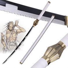 "Details about  /Roronoa Zoro /""Wado Ichimonji/"" White Steel Replica Katana From One Piece Anime"