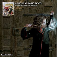 The unstoppable Hermione, featured in the new illustrated edition of Harry Potter and thre Sorcerer's Stone. #harrypotterillustrated