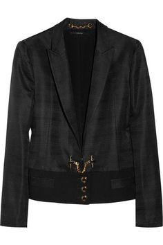 GUCCI Silk-Faille Ottoman Jacket. #gucci #cloth #jackets