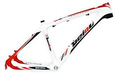 BEIOU 3k Carbon Fiber Mountain Bike Frame 26Inch Glossy Unibody External Cable Routing T700 Ultralight MTB White Red B005XRed 15Inch -- Want additional info? Click on the image. This is an Amazon Affiliate links.