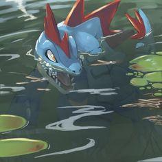 Pokémon - 160 Feraligatr art by Tesshii (Rize4828) (Danbooru)