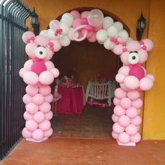 Baby 4 first Baby Shower Balloons, Baby Shower Parties, Baby Showers, Balloon Crafts, Balloon Gift, Birthday Balloon Decorations, Baby Shower Decorations, Balloon Columns, Balloon Arch